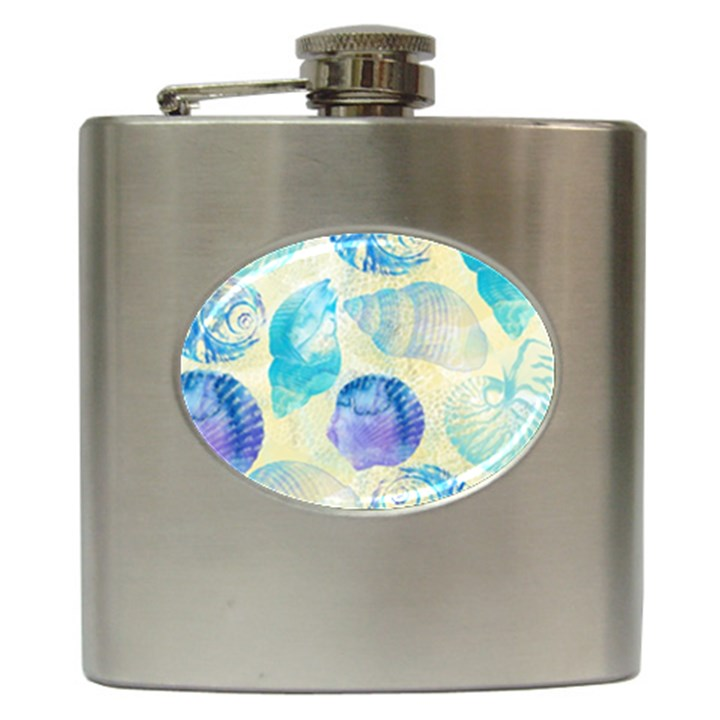 Seashells Hip Flask (6 oz)