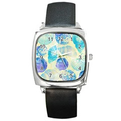Seashells Square Metal Watch by DanaeStudio