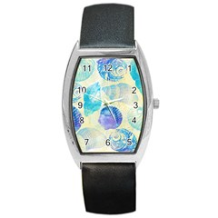 Seashells Barrel Style Metal Watch