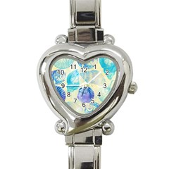 Seashells Heart Italian Charm Watch