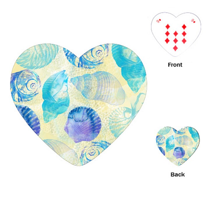 Seashells Playing Cards (Heart)