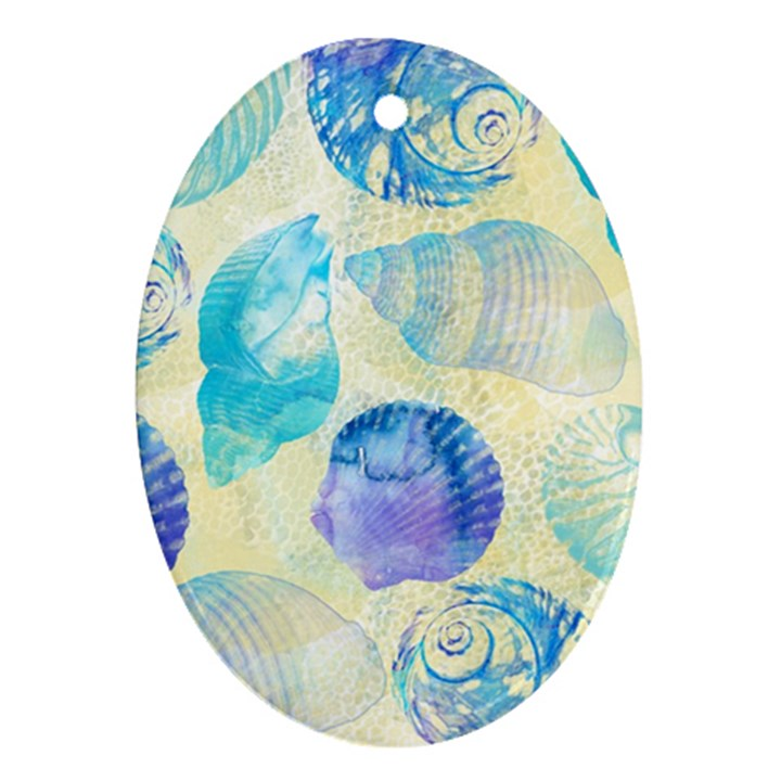 Seashells Oval Ornament (Two Sides)