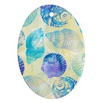Seashells Oval Ornament (Two Sides) Back