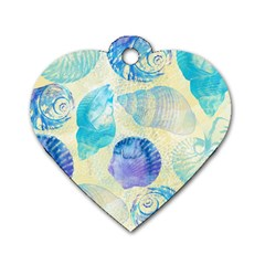 Seashells Dog Tag Heart (one Side) by DanaeStudio