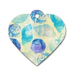 Seashells Dog Tag Heart (Two Sides) Front
