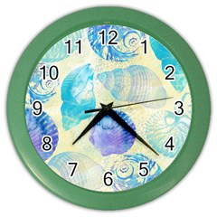 Seashells Color Wall Clocks
