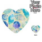 Seashells Multi-purpose Cards (Heart)  Front 1