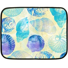 Seashells Double Sided Fleece Blanket (Mini)