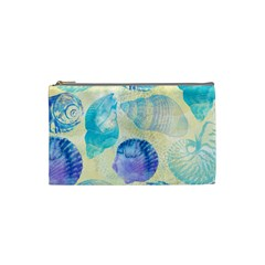 Seashells Cosmetic Bag (small)  by DanaeStudio