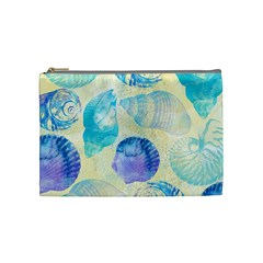 Seashells Cosmetic Bag (medium)  by DanaeStudio