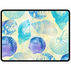 Seashells Fleece Blanket (large)  by DanaeStudio