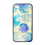 Seashells Apple iPhone 4 Case (Black) Front