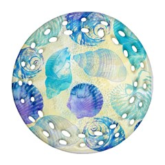 Seashells Round Filigree Ornament (2side)