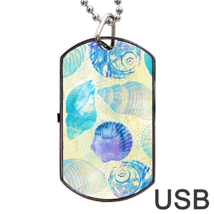 Seashells Dog Tag USB Flash (One Side)