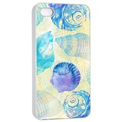 Seashells Apple iPhone 4/4s Seamless Case (White)