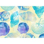 Seashells Peace Sign 3D Greeting Card (7x5) Back