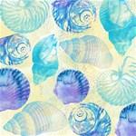 Seashells Happy New Year 3D Greeting Card (8x4) Inside