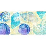 Seashells Laugh Live Love 3D Greeting Card (8x4) Front
