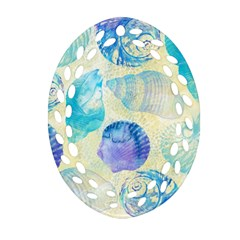 Seashells Oval Filigree Ornament (2-Side)