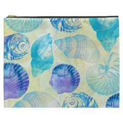 Seashells Cosmetic Bag (xxxl)  by DanaeStudio