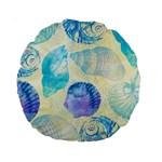 Seashells Standard 15  Premium Round Cushions Front