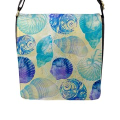 Seashells Flap Messenger Bag (l)  by DanaeStudio