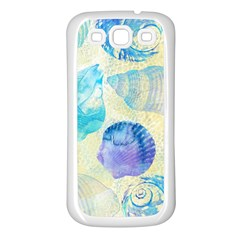 Seashells Samsung Galaxy S3 Back Case (white) by DanaeStudio