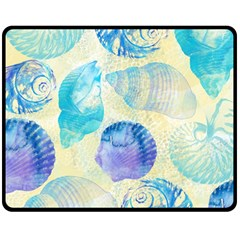 Seashells Double Sided Fleece Blanket (Medium)