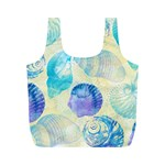 Seashells Full Print Recycle Bags (M)  Back