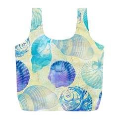 Seashells Full Print Recycle Bags (l)  by DanaeStudio