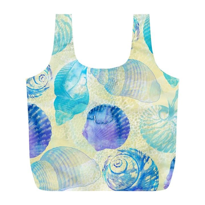 Seashells Full Print Recycle Bags (L)