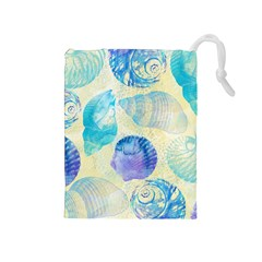 Seashells Drawstring Pouches (Medium)