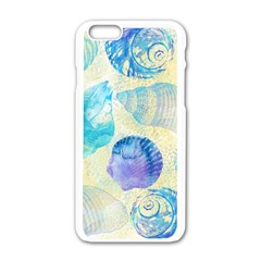Seashells Apple Iphone 6/6s White Enamel Case by DanaeStudio