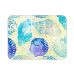 Seashells Double Sided Flano Blanket (mini)  by DanaeStudio