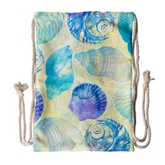 Seashells Drawstring Bag (Large)