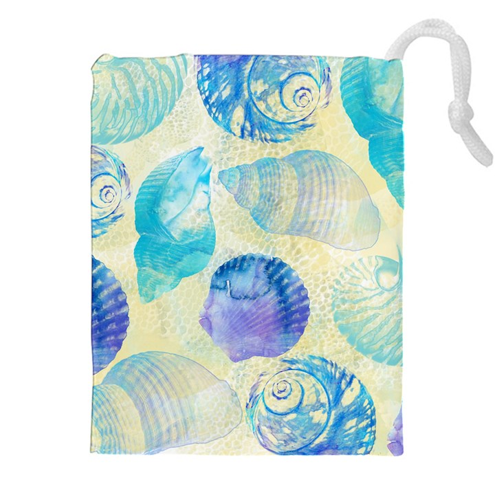 Seashells Drawstring Pouches (XXL)