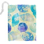 Seashells Drawstring Pouches (XXL) Back
