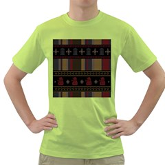 Tardis Doctor Who Ugly Holiday Green T Shirt by Onesevenart