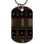 Tardis Doctor Who Ugly Holiday Dog Tag (Two Sides)