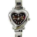 Tardis Doctor Who Ugly Holiday Heart Italian Charm Watch