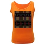 Tardis Doctor Who Ugly Holiday Women s Dark Tank Top
