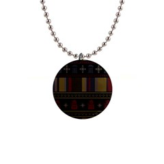 Tardis Doctor Who Ugly Holiday Button Necklaces by Onesevenart