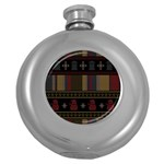 Tardis Doctor Who Ugly Holiday Round Hip Flask (5 oz)