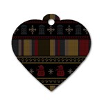 Tardis Doctor Who Ugly Holiday Dog Tag Heart (One Side)