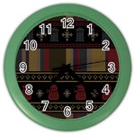 Tardis Doctor Who Ugly Holiday Color Wall Clocks