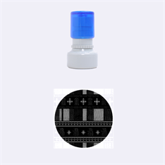 Tardis Doctor Who Ugly Holiday Rubber Round Stamps (small) by Onesevenart