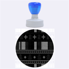 Tardis Doctor Who Ugly Holiday Rubber Round Stamps (large) by Onesevenart