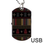 Tardis Doctor Who Ugly Holiday Dog Tag USB Flash (One Side)