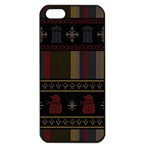 Tardis Doctor Who Ugly Holiday Apple iPhone 5 Seamless Case (Black)