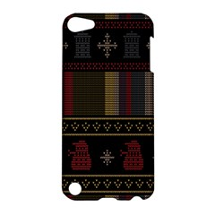 Tardis Doctor Who Ugly Holiday Apple Ipod Touch 5 Hardshell Case by Onesevenart